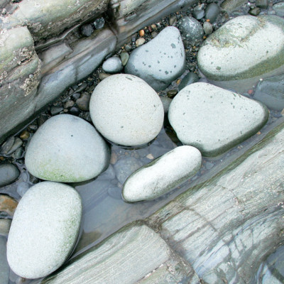 Beach Stones on Slate Fairbourne Beach