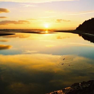 Sunset over Afon Dyfi