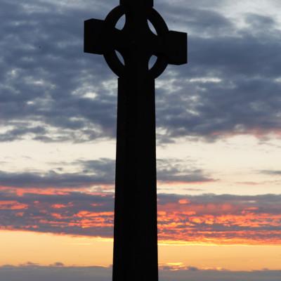Cross on Bardsey Island