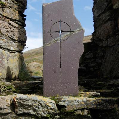 Slate Cross on Bardsey Island