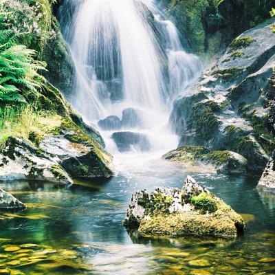Afon Dyfi Waterfall near Source
