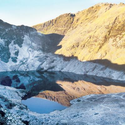 Ice on Llyn Cau - Cader Idris