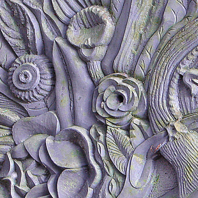 Slate Carving on Grave Stone