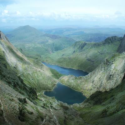 Lakes from Snowdon Peak