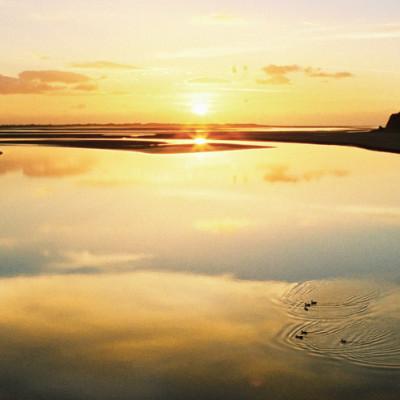 Afon Dyfi Yellow Sunset