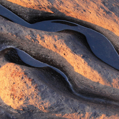 Ancient Peat at Sunset Cardigan Bay