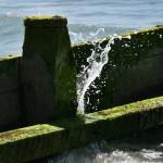 Wave Splashing on the Breakwater