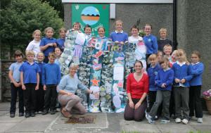 Ysgol Friog Project on Beach Conservation sponsored by Gwynedd Council