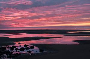 Sun Setting Over Mawddach Estuary