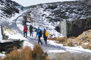 Nearly up to Rhosydd Quarry - (Image by Kirsty)